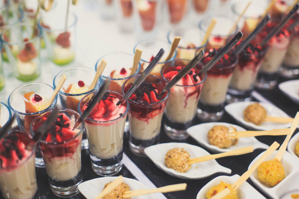 themed wedding catering ideas