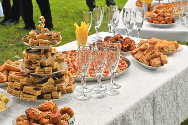 Birthday Catering, outdoors