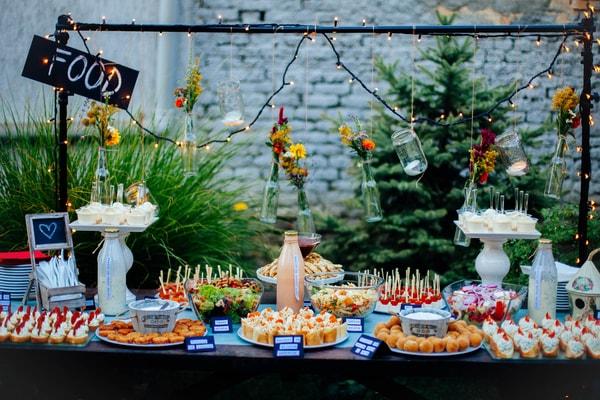 Delicious wedding food